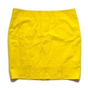 NWT Eloquii Yellow Pencil Skirt Scallop Hem 16W T2